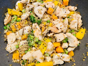 Chicken breast with vegetables and quinoa