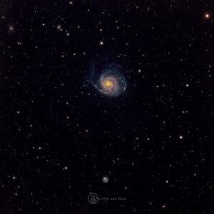 Small telescope astrophotography - Pinwheel Galaxy